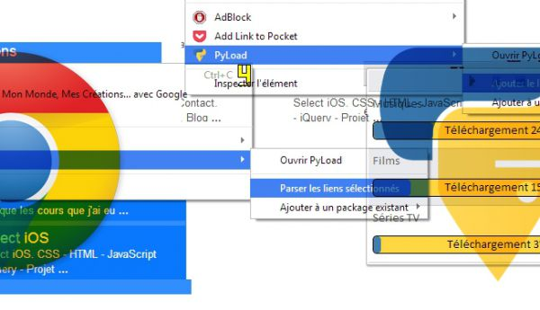 Extension Pyload pour Google Chrome